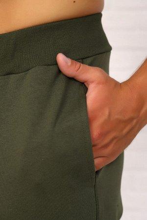 Брюки 4632 70% хлопок, 24% п/э, 6% лайкра Спортивные мужские брюки на манжетах, пояс эластичный, карман в боковом шве, и накладной карман на уровне колена. футер с лайкрой 2-х нитка Футер с лайкрой д