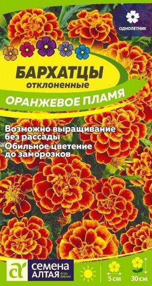 Бархатцы Оранжевое пламя/Сем Алт/цп 0,2 гр.