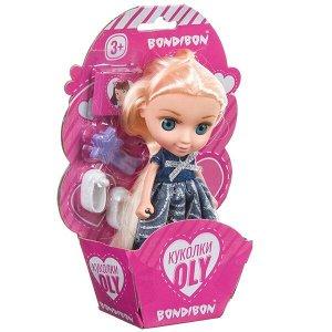Набор игровой Bondibon 16,5см кукла OLY с аксессуарами, CRD-конверт 13x19x4,5см, арт. 65000A.
