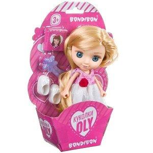 Набор игровой Bondibon 16,5см кукла OLY с аксессуарами, CRD-конверт 13x19x4,5см, арт. 65000В.