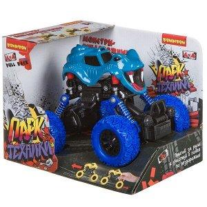 "Инерц.(Pull back) пласт. джип 4WD на пружинной подвеске, Bondibon ""Парк Техники"", цвет синий, вид мо"