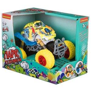 """Инерц. метал. джип 4WD на пружинной подвеске, Bondibon """"Парк Техники"""", цвет жёлтый с граффити, арт.0"""