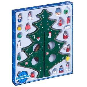 Новогодний набор BONDIBON. Деревянная ёлочка 3D с игрушками, высота 29см