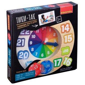 Развивающие игры из дерева Bondibon Чудо часики «ТИКИ-ТАК», BOX 22,5?3?22,5 см