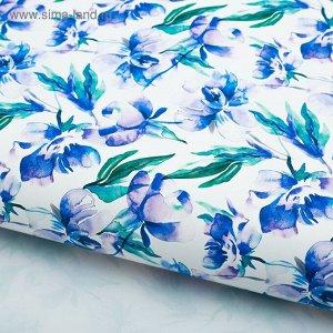 Бумага глянцевая Синие ирисы 70 х 100 см