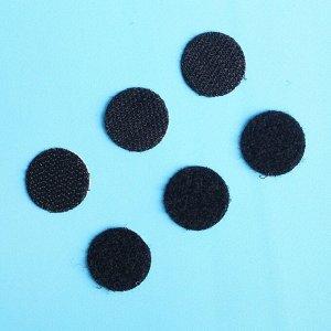 Липучка на клеевой основе «Круг», набор 30 шт., размер 1 шт. 2 см, цвет чёрный