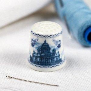 Напёрсток сувенирный «Санкт-Петербург. Гжель»
