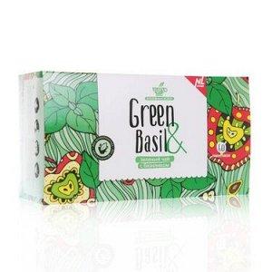 Зеленый чай с базиликом