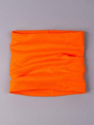 Снуд, двойной трикотаж, детский, оранжевый