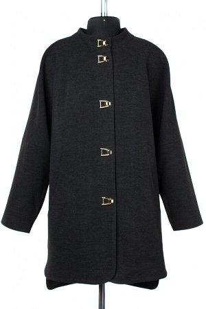 01-09261 Пальто женское демисезонное Пальтовая ткань темно-серый