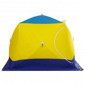 Палатка зимняя «СТЭК» КУБ 4-местная, трёхслойная, дышащая ДМ