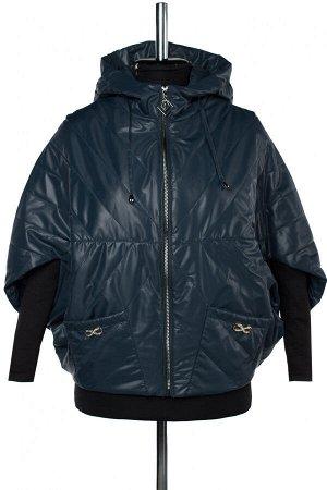 04-2626 Куртка демисезонная (синтепон 100) Плащевка сине-зеленый
