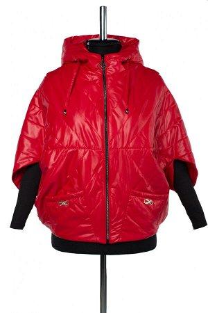04-2624 Куртка демисезонная (синтепон 100) Плащевка красный