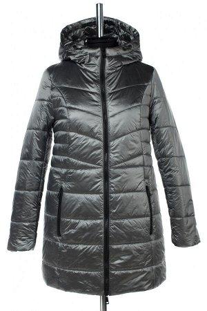04-2604 Куртка демисезонная (синтепон 150) Плащевка серый