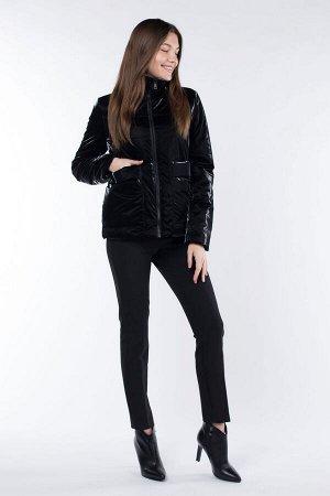 04-2539 Куртка демисезонная (синтепон 100) Плащевка черный