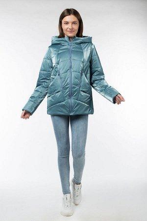 04-2571 Куртка демисезонная (Синтепон 150) Плащевка серо-голубой