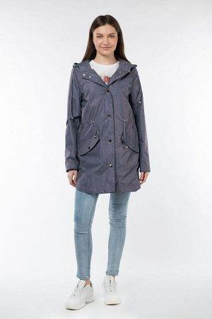 04-2560 Куртка ветровка демисезонная Плащевка Серо-фиолетовый
