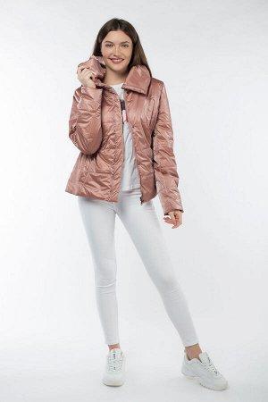 04-2559 Куртка демисезонная (Синтепон 100) Плащевка бежево-розовый