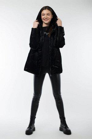 04-2558 Куртка демисезонная (Синтепон 150) Плащевка черный