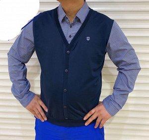 Рубашка с жилеткой-обманкой