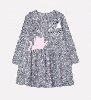 Платье для девочки Crockid КР 5618 серый меланж