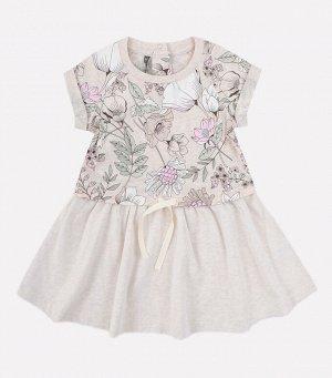 Платье для девочки Crockid КР 5625 светло-бежевый меланж, разноцветие к273