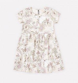 Платье для девочки Crockid КР 5626 светло-бежевый меланж, разноцветие к273