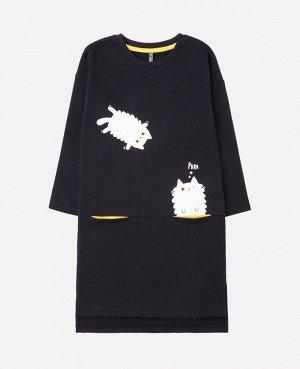 Платье для девочки Crockid КР 5631 черный к271