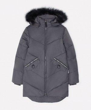 Пальто зимнее для девочки Crockid ВК 38047/1 ГР