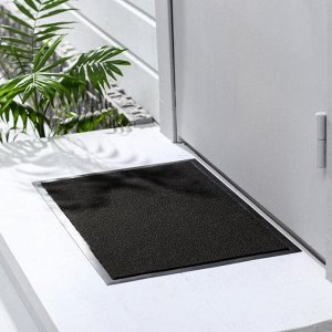 Коврик придверный влаговпитывающий, иглопробивной, «Эконом», 40?60 см, цвет чёрный