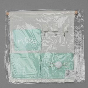 Органайзер с карманами подвесной Доляна «Мяу», 3 отделения, 30?34 см, цвет бирюзовый