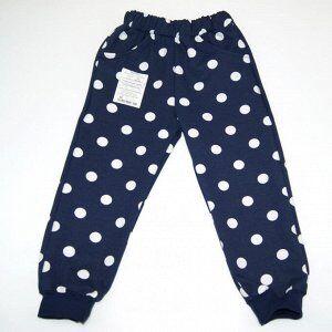 Спортивные штаны 381/20 (темно-синии, горох)