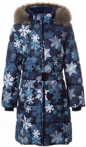 Пальто для девочки YACARANDA, тёмно-синий с принтом
