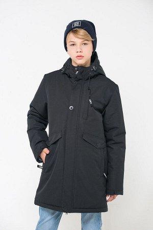 Куртка удлиненная зимняя для мальчика ВКБ 36054/1 ГР
