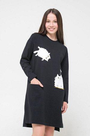 Платье(Осень-Зима)+girls (черный к31)