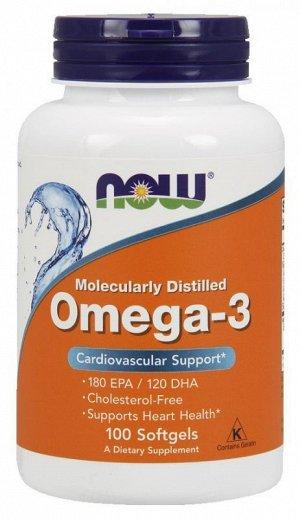 Омега 3 (Рыбий жир) NOW Omega-3 1000 мг - 100 капсул