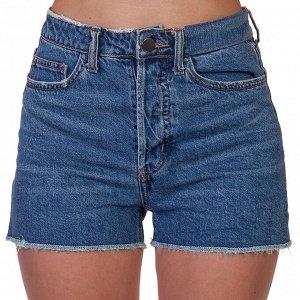 Модные джинсовые шорты для девушек – классика с высокой посадкой №258