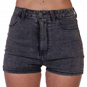 Короткие женские шортики с высокой талией – хитовый «варёный» налёт №256