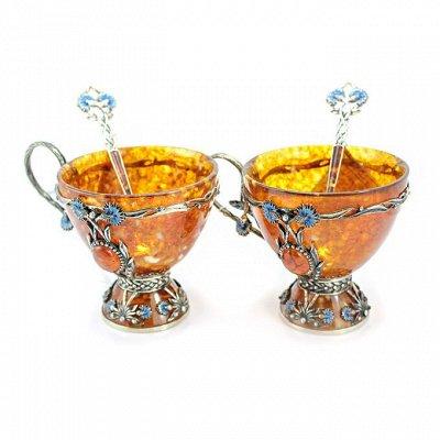 Бижу из настоящего Янтаря    — Посуда из янтаря — Посуда