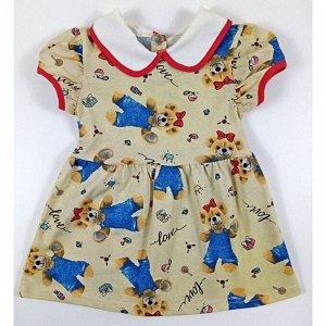 Платье 7099/1 (мишки, love) 28/92