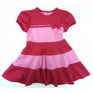 Платье 7122/1 (малиновое, бантик)