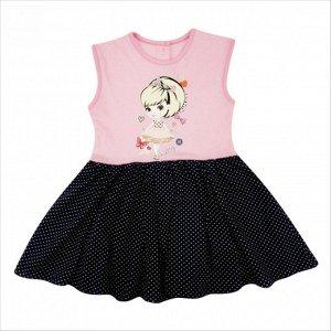 Платье 7128/2 (розовое, рисунок) 34/128