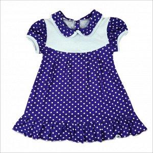 Платье 724/76 (сиреневое, горох)