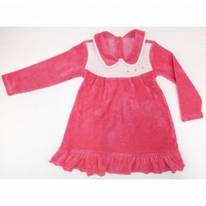 Платье 744/2 (коралл) велюр