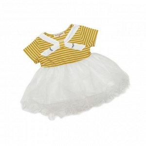 Платье №1 (желтое, полоска, глазки)
