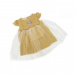 Платье №1 (клетка, желтая)