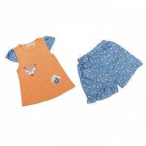 Костюм девочки №20 (лисичка, оранжевый)