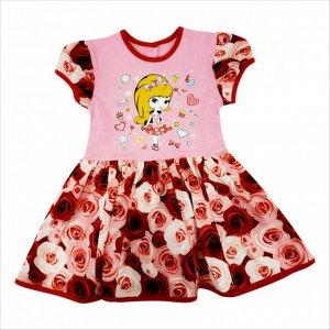 Платье 7028/47 (розы, рисунок)