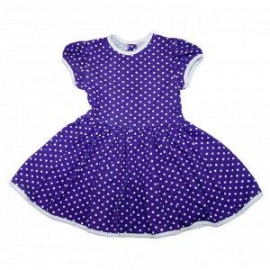 Платье 7028/71 (сиреневый, горох)