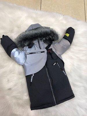 Куртка Очень тёплый от 0 до -35 дышащая непромокаемая ткань мембрана модный двойной капюшон мягкий ,приятный подклад